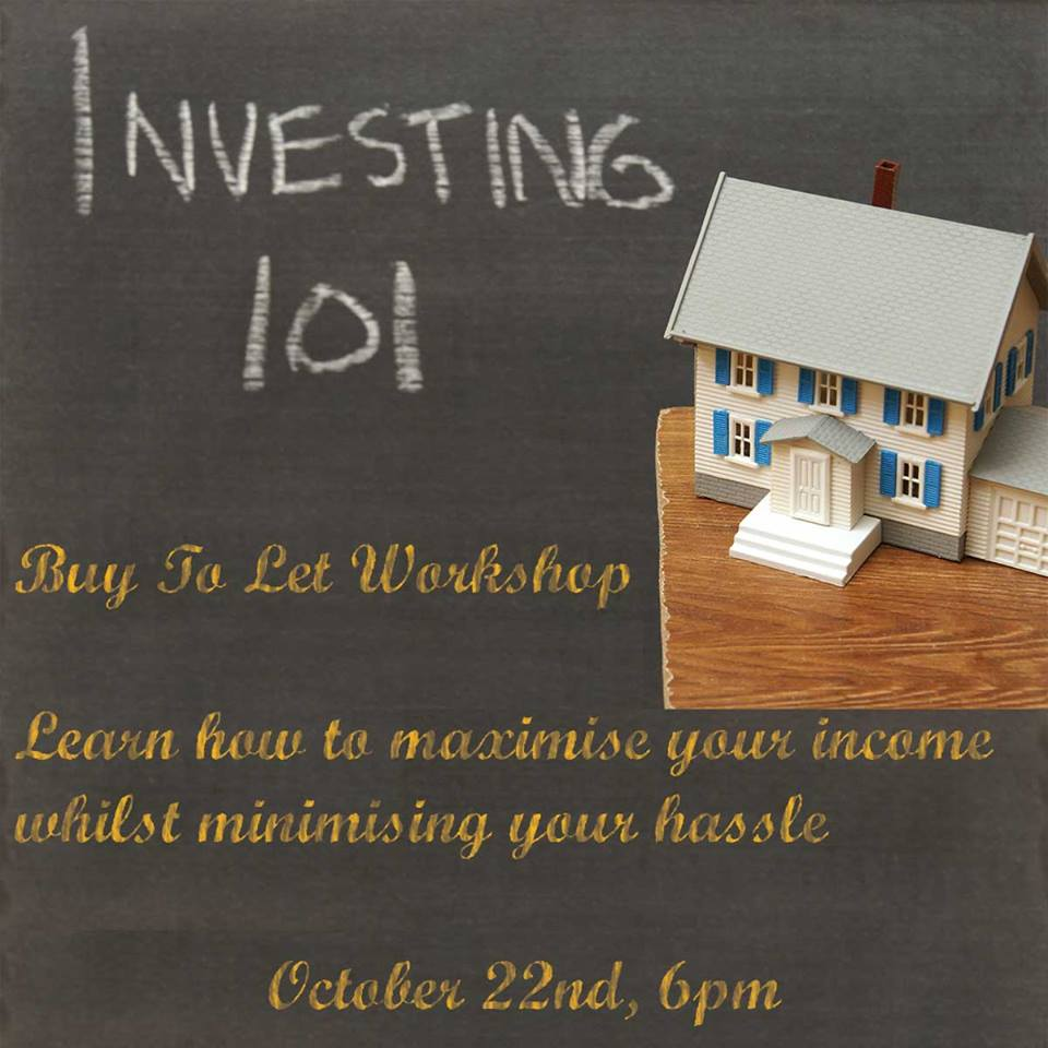 Advert for our first buy to let event