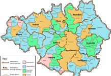 Greater Manchester Borough Map