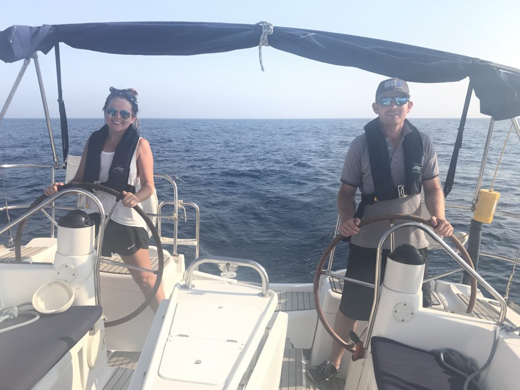 mike and Victoria sailing