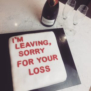 leaving cake