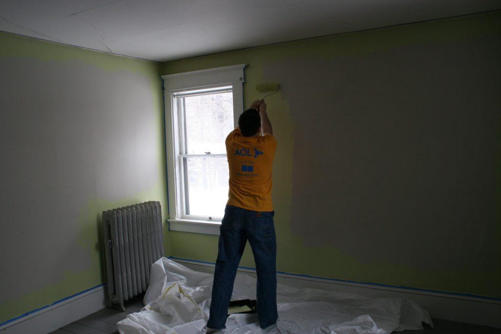 Man decorating room