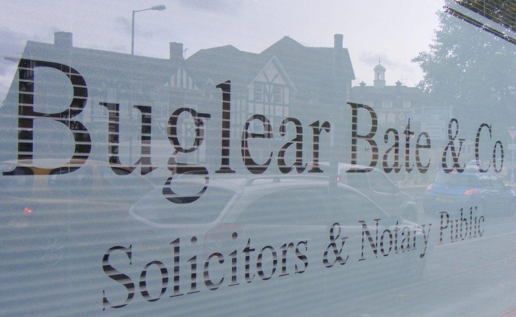 Exterior of solicitors