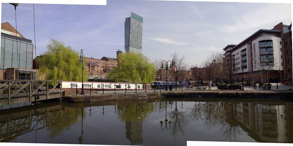 Manchester canal side