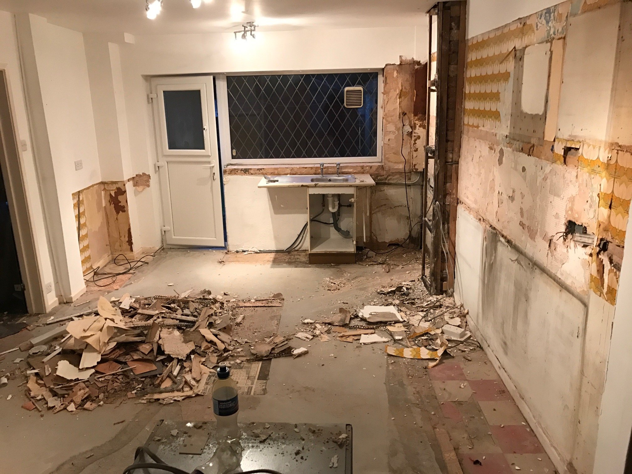 Kitchen during the works